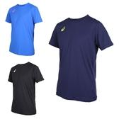 ASICS 男排球短袖T恤 (免運 短T 短袖上衣 排球 訓練 亞瑟士≡排汗專家≡