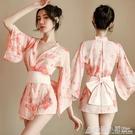 日式性感和服制服睡衣長袖外套誘惑櫻花貓情趣繫帶日本羽織和風裙 聖誕節鉅惠