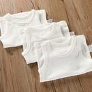 女童背心內衣 純棉無袖背心嬰兒寶寶吊帶兒童裝內衣男童女童打底衫睡衣薄純白色 618狂歡