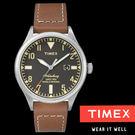 TIMEX x RED WING 聯名復刻數字皮帶錶x40mm 日期顯示 夜光冷光面板 TXT2P84000 公司貨| 名人鐘錶
