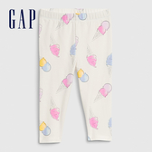 Gap女幼童 柔軟舒適印花緊身褲 576782-冰淇林印花