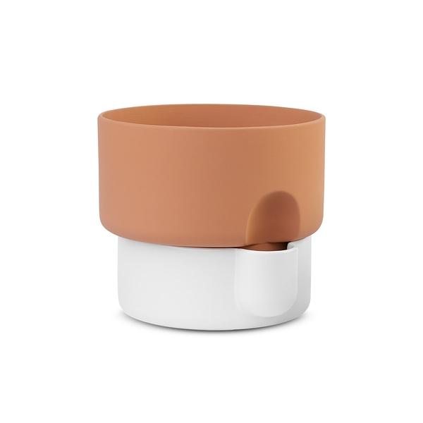 挪威 Northern Oasis Double Flower Pot in Small 15cm 綠洲系列 雙層 花盆 - 小尺寸(白色款)