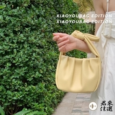 褶皺蝴蝶結水桶包女包包斜挎包手提包【君來家選】