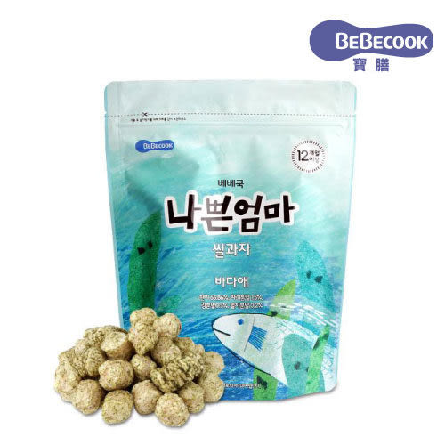韓國 智慧媽媽 BEBECOOK 鯷魚海藻米果