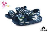 adidas ALTASWIM 小童 寶寶露趾涼鞋 涼爽輕巧 休閒涼鞋 小鯊魚圖樣 R9316#藍色◆OSOME奧森鞋業