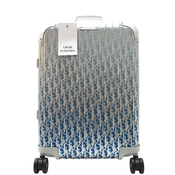 Dior 迪奧 DIOR AND RIMOWA 漸層藍Dior Oblique機艙行李箱 【二手名牌BRAND OFF】