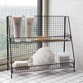 鐵藝收納架廚房浴室整理架宿舍雜物化妝品收納多功能桌面置物架 黛尼時尚精品