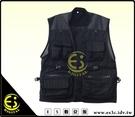 ES數位館 雙層戰術攝影背心 攝影背心 多口袋多功能背心 透氣網眼布 棉質  釣魚背心