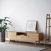 北歐實木電視柜茶幾組合小戶型日式原木家具現代簡約風格電視機柜 NMS台北日光