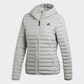 Adidas Varilite Soft [CY8734] 女款 休閒 短版 合身 輕量 保暖 羽絨 外套 愛迪達 灰