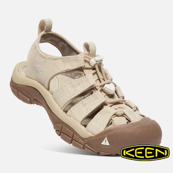 【KEEN 美國】Newport Retro 女 護趾水陸兩用鞋『米/咖啡』1018829 涼鞋.自行車.溯溪.健走.戶外.露營