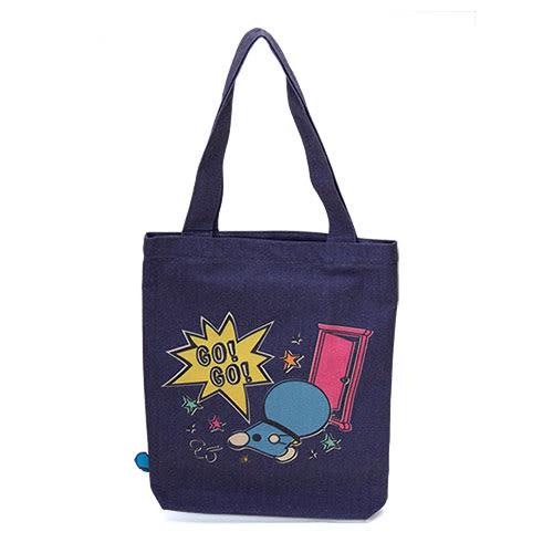 《CHARA PORT》哆啦A夢復古刷色雙面帆布提包及素描本組(繽紛任意門)★funbox生活用品★CP99078