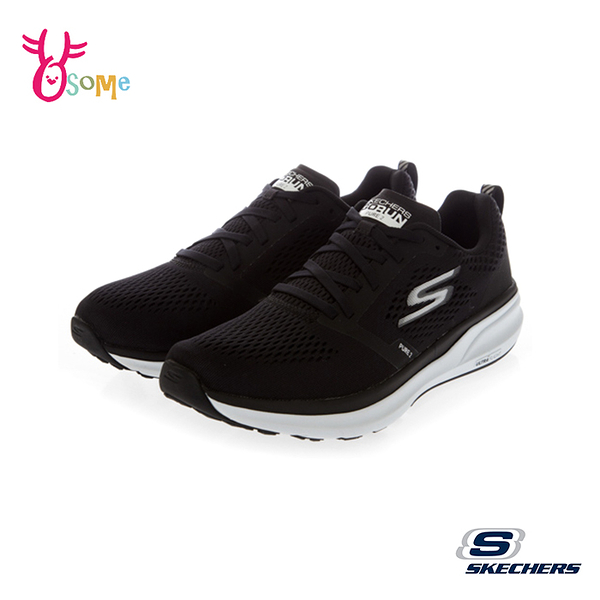 Skechers運動鞋 男鞋 GORUN PURE 2 足弓支撐跑鞋 耐磨止滑 慢跑鞋 透氣網布 U8243#黑色◆奧森