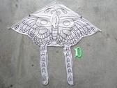 彩繪蝴蝶風箏 空白蝴蝶風箏 (三角造型碳纖骨架)/一組(#80)