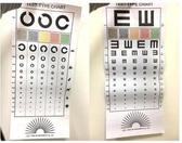 視力檢查表 C型款/E型款/擋眼板 視力表 視力表+遮眼棒/組【艾保康】