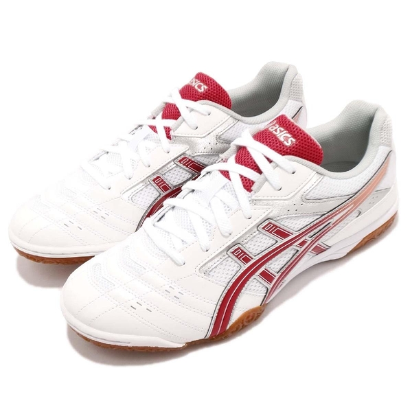 Asics 桌球鞋 Attack Hyperbeat SP 2 白 紅 男鞋 女鞋 膠底設計 運動鞋【PUMP306】 TPA3320123