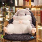 靠枕可愛龍貓倉鼠學生腰靠椅子護腰枕靠枕靠背靠墊汽車辦公室抱枕創意