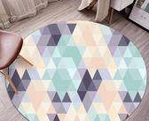 圓形地毯清新現代簡約吊籃電腦椅書房客廳茶幾墊臥室床邊可愛地墊梗豆物語