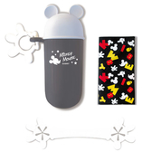 日本 迪士尼 Disney 米奇餐巾+餐巾夾附收納盒~灰色