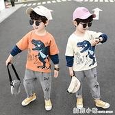 男童春裝恐龍套裝2020年新款洋氣兒童裝帥氣小童寶寶秋裝兩件套潮 蘇菲小店