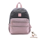 B.S.D.S冰山袋鼠 - 香檳歐蕾 - 純色拼接多層收納後背包 - 藕粉紫【Y4505-PR】