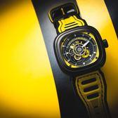 SEVENFRIDAY P3B賽車車隊系列 限量機械錶-黑x黃/48mm P3B-3