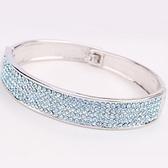 手環 925純銀 鑲鑽-簡約獨特生日情人節禮物女手鍊10色73ak115【時尚巴黎】