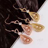 耳環玫瑰金純銀鑲鑽奢華典雅魅力 生日情人節 女飾品2 色73bu39  巴黎