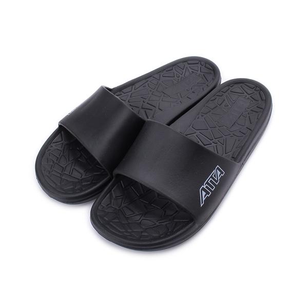 ATTA 舒適幾何紋室外拖鞋 黑 1181015 男鞋