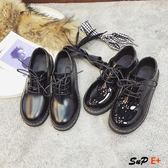 娃娃鞋 英倫風 小皮鞋 韓版 百搭 軟妹平底 黑色日系單鞋
