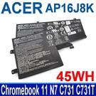 宏碁 ACER AP16J8K 3芯 . 電池 Chromebook 11 N7 C731 C731T