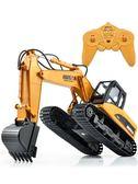 遙控挖掘機玩具無線工程車可充電合金挖機鉤機兒童玩具車挖土機 百搭潮品