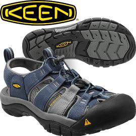 【KEEN 美國 NEWPORT H2 男款 護趾涼鞋〈深藍/灰〉】1012206/編織涼鞋/涼鞋/休閒涼鞋★滿額送