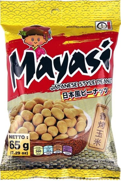 【Mayasi】日本娃娃香酥花生-香烤玉米口味