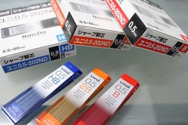三菱uni 202ND 自動鉛筆芯 0.5mm鉛筆替芯/一小筒入{定55}~Dia超最強自動鉛筆芯