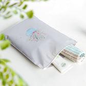 ✭慢思行✭【Y53】印花旅行拉邊收納袋(12入) 整理袋 束口 出差 花環 雜物 拉邊袋