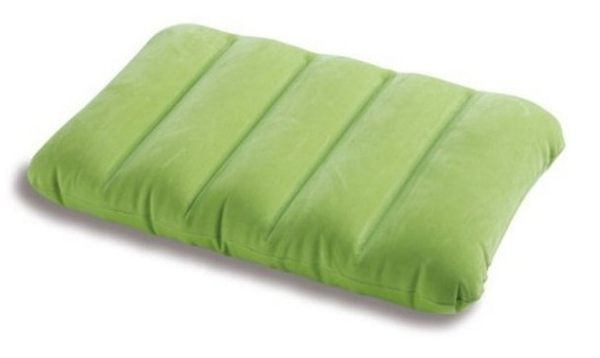 [衣林時尚] INTEX 充氣枕頭(綠)  充氣墊 靠墊 坐墊 43CM X 28CM X 9 CM 可清洗   68676