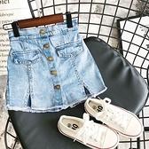 女童牛仔裙褲 韓版薄款百搭牛仔裙褲