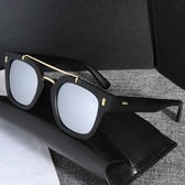 太陽眼鏡-時尚金屬雙樑造型男女偏光墨鏡7色73en79【巴黎精品】