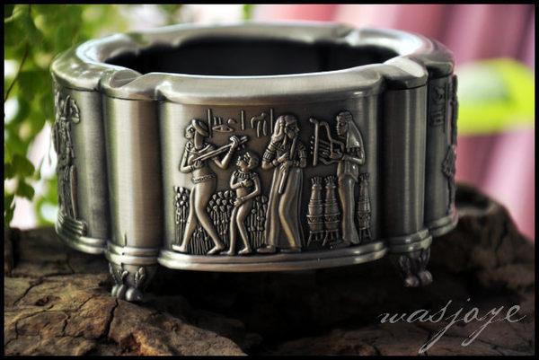 古典歐式 尼祿子嗣 精工古埃及風 工藝煙灰缸