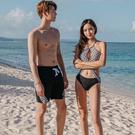 Qmigirl 泳裝【WET308】情侶泳衣性感比基尼海灘度假泳裝沙灘褲泳衣 溫泉 沙灘 BIKINI