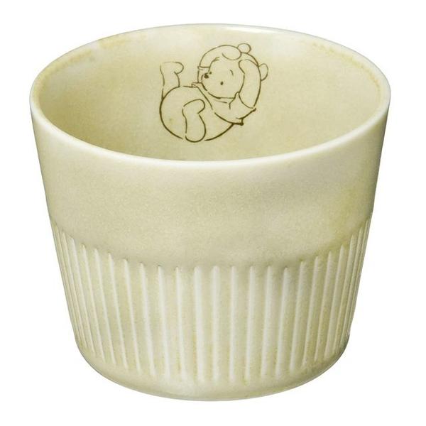 小禮堂 迪士尼 小熊維尼 日本製 無把陶瓷杯 (美濃燒) 4979274-52394