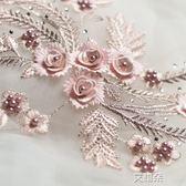 彩色釘珠燙鑽刺繡立體蕾絲花朵婚紗手工diy材料時裝服飾裝飾輔料 艾維朵