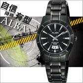 ALBA 簡約概念時尚腕錶(IP黑/28mm) VJ22-X074SD 國際碼:AH7305X