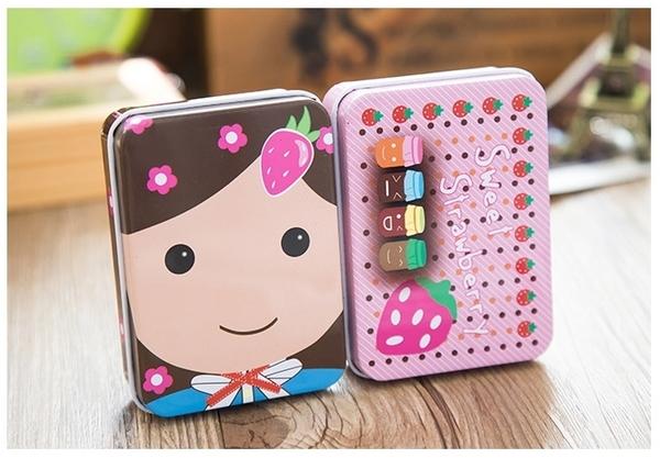 【馬口鐵盒】卡通圖案鐵質迷你收納盒 首飾禮物卡片文具飾品小物儲物盒 鐵盒