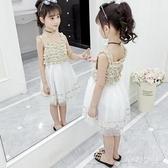 女童連衣裙夏裝大碼女童洋裝新款吊帶裙網紅童裝洋氣裙子小女孩兒童公主裙 SN1562【夢幻家居】