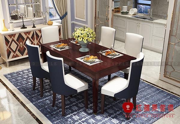 [ 紅蘋果傢俱 ] SLY065 歐式美式系列 長餐臺 餐桌 桌子 (另售 餐椅) 數千坪展示