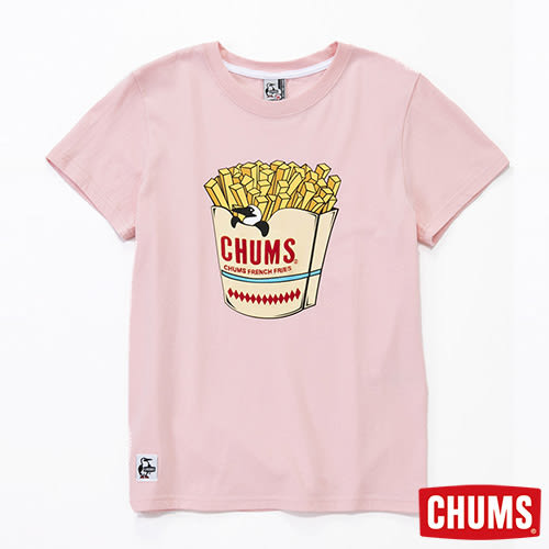 CHUMS 日本 女 Booby薯條短袖圓領T恤 粉紅 CH111213R059