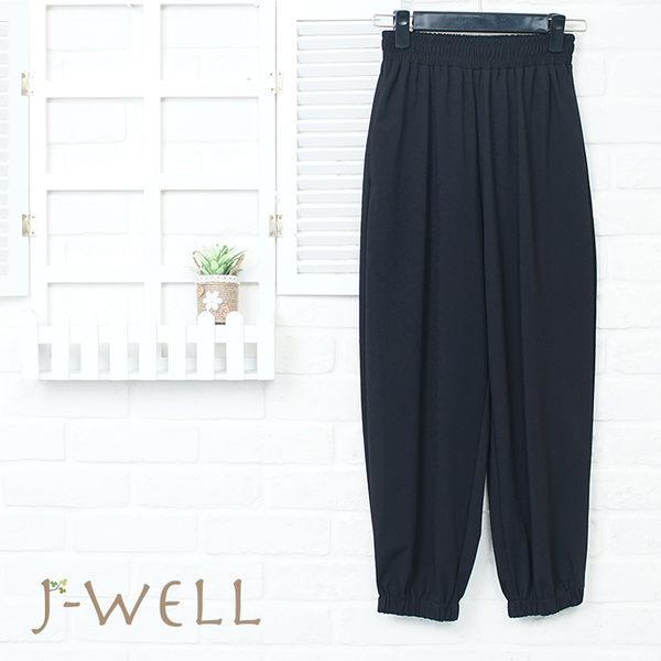 J-WELL 黑色束口褲 8P8268