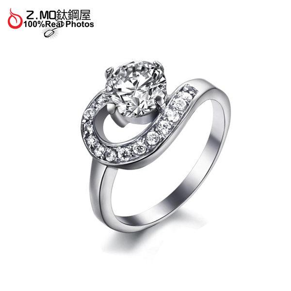 [Z-MO鈦鋼屋]滿鑽曲線造型女性鑽戒/告白禮物推薦/媲美鋯石專櫃品質單件價【BKS7317】